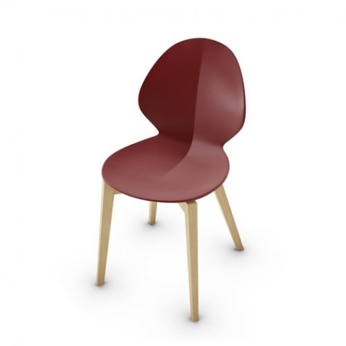 CS1348 BASIL Frame P19W ash. NATURAL OAK Seat P3L pp MATT OXIDE RED