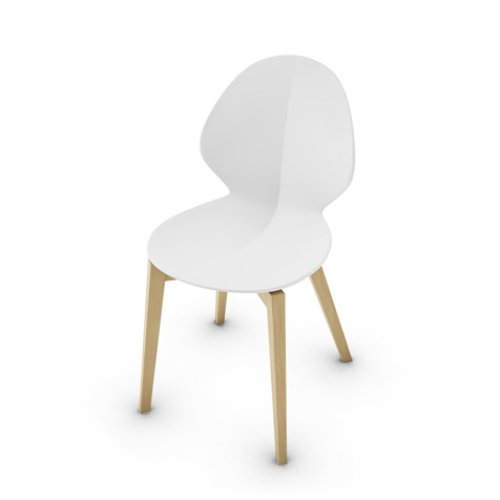 CS1348 BASIL W Frame P19W ash. NATURAL OAK Seat P94 pp MATT OPTIC WHITE