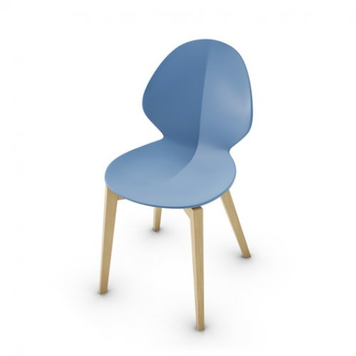 CS1348 BASIL W Frame P19W ash. NATURAL OAK Seat P100 pp MATT SKY BLUE