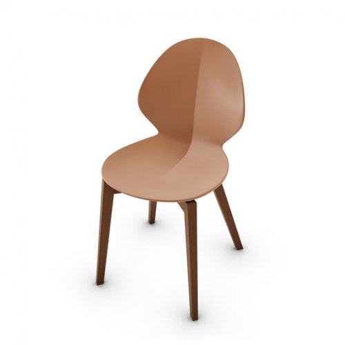 CS1348 BASIL Frame P201 bch. WALNUT Seat P28P pp MATT BRICK RED