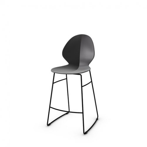 CS1354 BASIL Frame P15 met. MATT BLACK Seat P16 pp MATT GREY