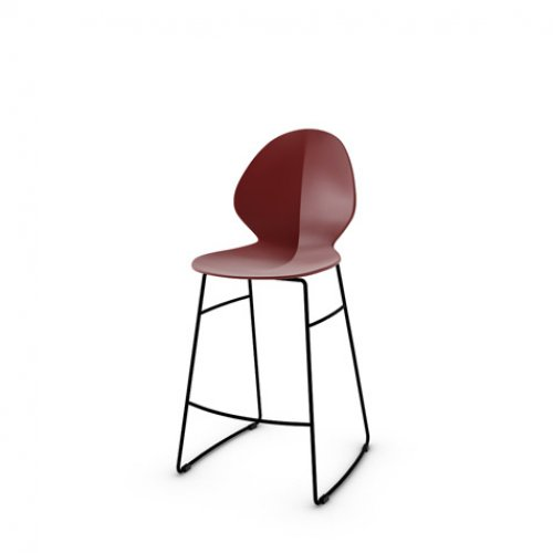 CS1354 BASIL Frame P15 met. MATT BLACK Seat P3L pp MATT OXIDE RED