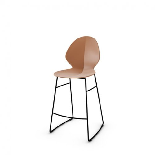 CS1354 BASIL Frame P15 met. MATT BLACK Seat P28P pp MATT BRICK RED