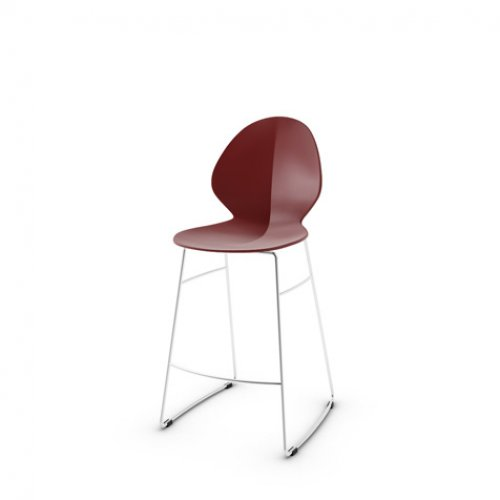 CS1354 BASIL Frame P77 met. CHROMED Seat P3L pp MATT OXIDE RED