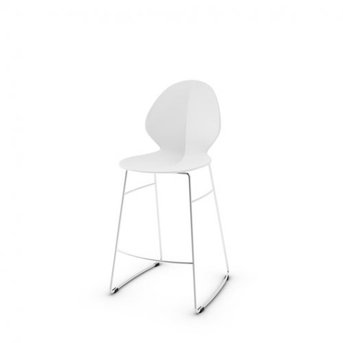 CS1354 BASIL Frame P77 met. CHROMED Seat P94 pp MATT OPTIC WHITE