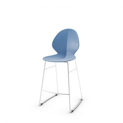 CS1354 BASIL Frame P77 met. CHROMED Seat P100 pp MATT SKY BLUE