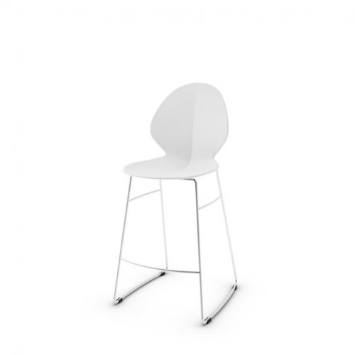CS1354-LHS BASIL Frame P77 met. CHROMED Seat 474 regen.lth OPTIC WHITE