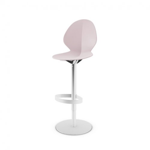 CS1356 BASIL Frame P95 met. SATIN FINISHED STEEL Seat P2L pp MATT PALE PINK