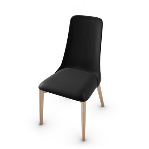 CS1423-LH ETOILE Frame P27 ash. NATURAL Seat 683 soft leather BLACK