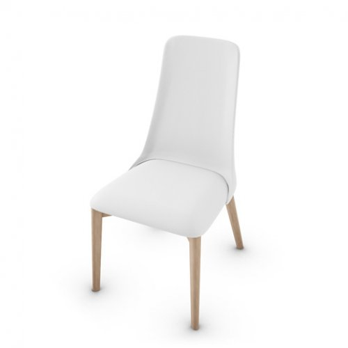 CS1423-LH ETOILE Frame P27 ash. NATURAL Seat 705 soft leather OPTIC WHITE