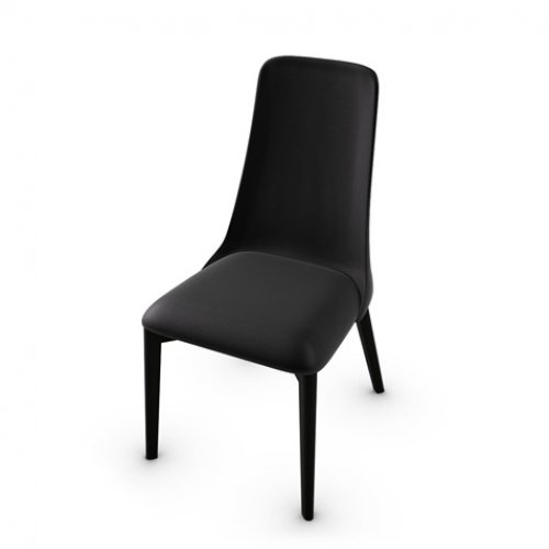 CS1423-LH ETOILE Frame P132 bch. GRAPHITE Seat 683 soft leather BLACK