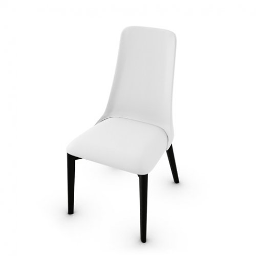 CS1423-LH ETOILE Frame P132 bch. GRAPHITE Seat 705 soft leather OPTIC WHITE