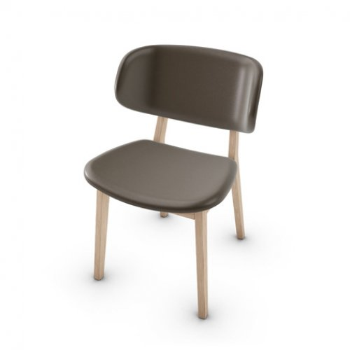 CS1443-LH CLAIRE Frame P27 ash. NATURAL Seat 470 soft leather COFFEE