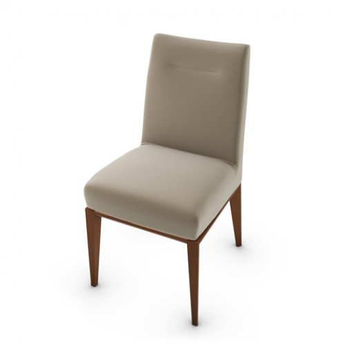 CS1490 TOSCA Frame P201 bch. WALNUT Seat SQ4 Malmo TAUPE
