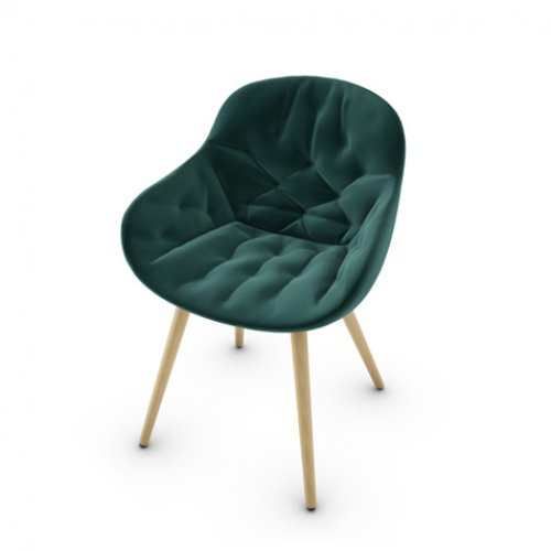CS1841 IGLOO SOFT Frame P19W ash. NATURAL OAK Seat S0H Venice FOREST GREEN
