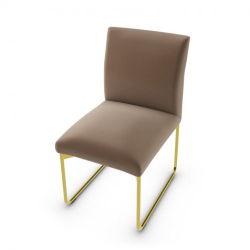 CS1866 GALA Frame P175 met. POLISHED BRASS Seat S0G Venice SOIL BROWN
