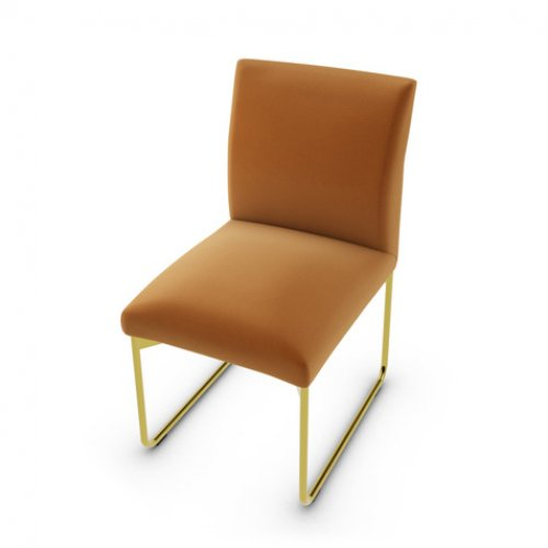 CS1866 GALA Frame P175 met. POLISHED BRASS Seat S0K Venice BRICK RED