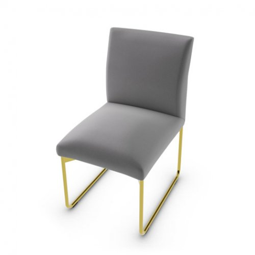 CS1866 GALA Frame P175 met. POLISHED BRASS Seat S0L Venice ASH GREY