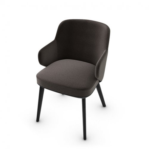 CS1889 FOYER Frame P15L ash. MATT BLACK Seat S2N Bergen SOIL BROWN