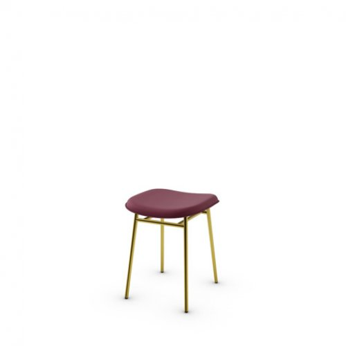 CS2005-LH FIFTIES Frame P175 met. POLISHED BRASS Seat L07 leather BURGUNDY