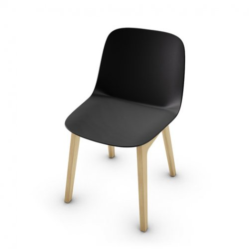 CS2010 VELA Frame P19W ash. NATURAL OAK Seat P15 pp MATT BLACK