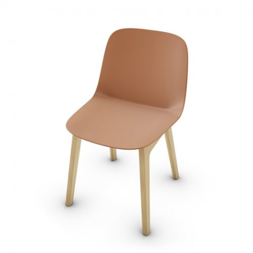 CS2010 VELA Frame P19W ash. NATURAL OAK Seat P28P pp MATT BRICK RED