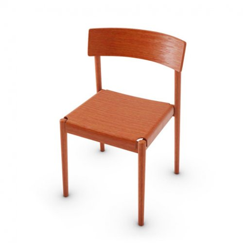 CS2027 SCANDIA Frame P28P ash. MATT BRICK RED Seat P28P MATT BRICK RED