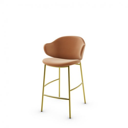 CS2038 HOLLY Frame P175 met. POLISHED BRASS Seat SLS Softer COGNAC