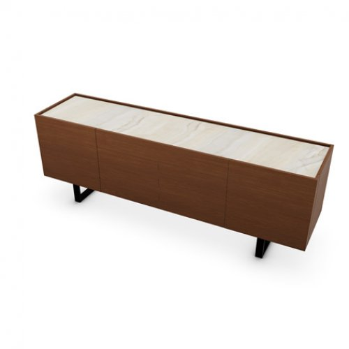 CS6017-1A HORIZON Frame P201 wlnt ven. WALNUT Top P4C ceramic GOLDEN ONYX MARBLE Base P15 met. MATT BLACK