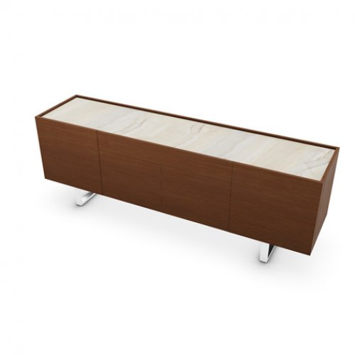 CS6017-1A HORIZON Frame P201 wlnt ven. WALNUT Top P4C ceramic GOLDEN ONYX MARBLE Base P77 met. CHROMED