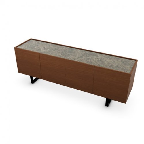 CS6017-1A HORIZON Frame P201 wlnt ven. WALNUT Top P7C ceramic EMPERADOR MARBLE Base P15 met. MATT BLACK
