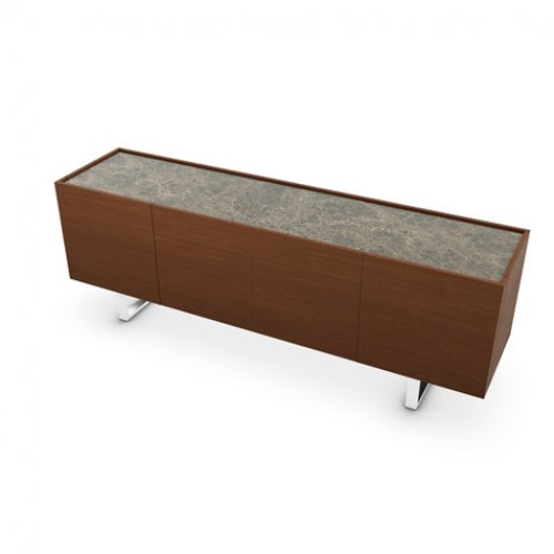 CS6017-1A HORIZON Frame P201 wlnt ven. WALNUT Top P7C ceramic EMPERADOR MARBLE Base P77 met. CHROMED