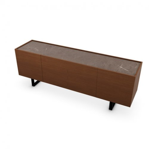 CS6017-1A HORIZON Frame P201 wlnt ven. WALNUT Top P14C ceramic BRONZE Base P15 met. MATT BLACK
