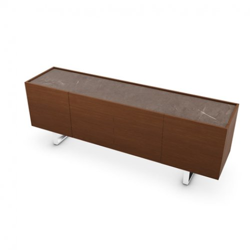 CS6017-1A HORIZON Frame P201 wlnt ven. WALNUT Top P14C ceramic BRONZE Base P77 met. CHROMED