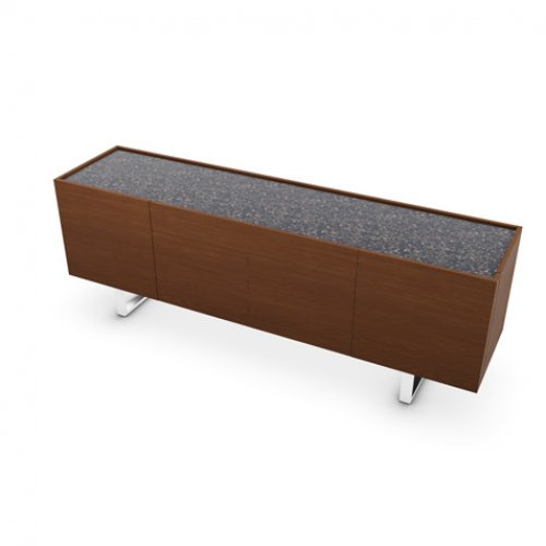 CS6017-1A HORIZON Frame P201 wlnt ven. WALNUT Top P15C ceramic TERRAZZO Base P77 met. CHROMED