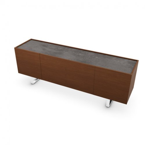 CS6017-1A HORIZON Frame P201 wlnt ven. WALNUT Top P321 ceramic LEAD GREY Base P77 met. CHROMED