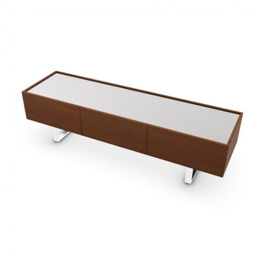 CS6017-3A HORIZON Frame P201 wlnt ven. WALNUT Top GEW temp.glass FROSTED EXTRACLEAR Base P77 met. CHROMED