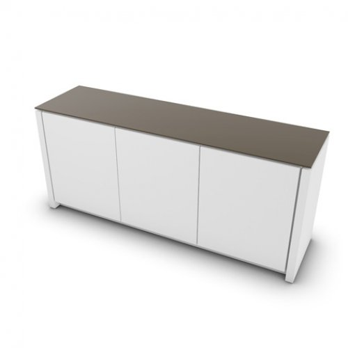 CS6029-6 MAG Internal frame P262 mel. WHITE Door P94 lacq. MATT OPTIC WHITE Top GTA temp.glass FROSTED TAUPE