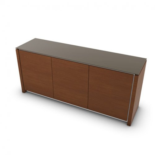 CS6029-6 MAG Internal frame P262 mel. WHITE Door P201 wlnt ven. WALNUT Top GTA temp.glass FROSTED TAUPE