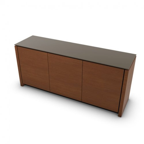 CS6029-6 MAG Internal frame P278 mel. BLACK Door P201 wlnt ven. WALNUT Top GTA temp.glass FROSTED TAUPE