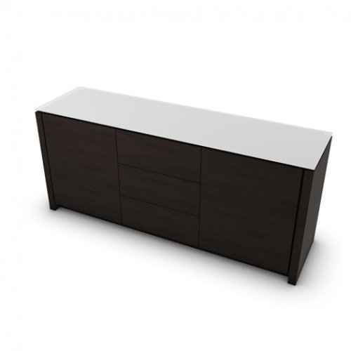 CS6029-10A MAG Internal frame P278 mel. BLACK Doors/drawers P12 ven.fin. SMOKE Top GEW temp.glass FROSTED EXTRACLEAR