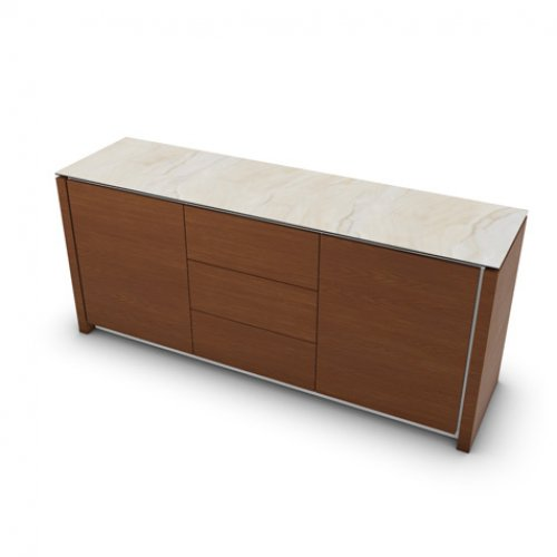 CS6029-10A MAG Internal frame P262 mel. WHITE Doors/drawers P201 wlnt ven. WALNUT Top P4C ceramic GOLDEN ONYX MARBLE