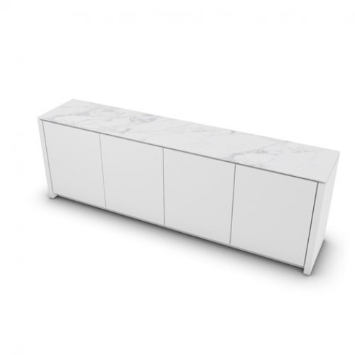CS6029-7 MAG Internal frame P262 mel. WHITE Door P94 lacq. MATT OPTIC WHITE Top P2C ceramic WHITE MARBLE