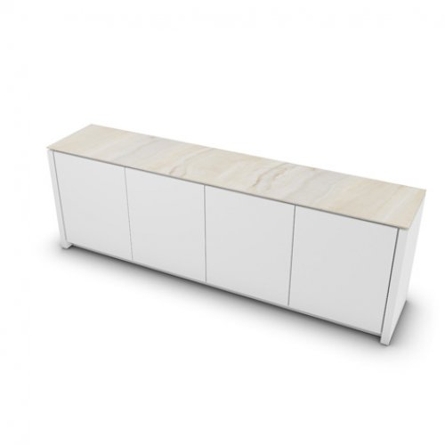CS6029-7 MAG Internal frame P262 mel. WHITE Door P94 lacq. MATT OPTIC WHITE Top P4C ceramic GOLDEN ONYX MARBLE