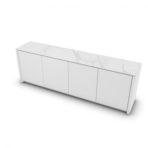 CS6029-7 MAG Internal frame P262 mel. WHITE Door P94 lacq. MATT OPTIC WHITE Top P9C ceramic SILK WHITE MARBLE