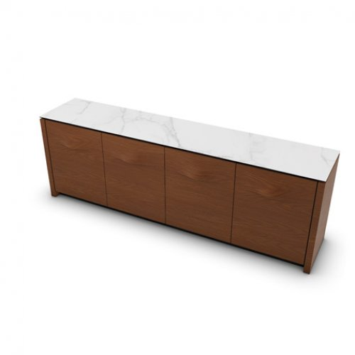 CS6069-7 MAG PLUS Internal frame P278 mel. BLACK Door P201 wlnt ven. WALNUT Top P9C ceramic SILK WHITE MARBLE