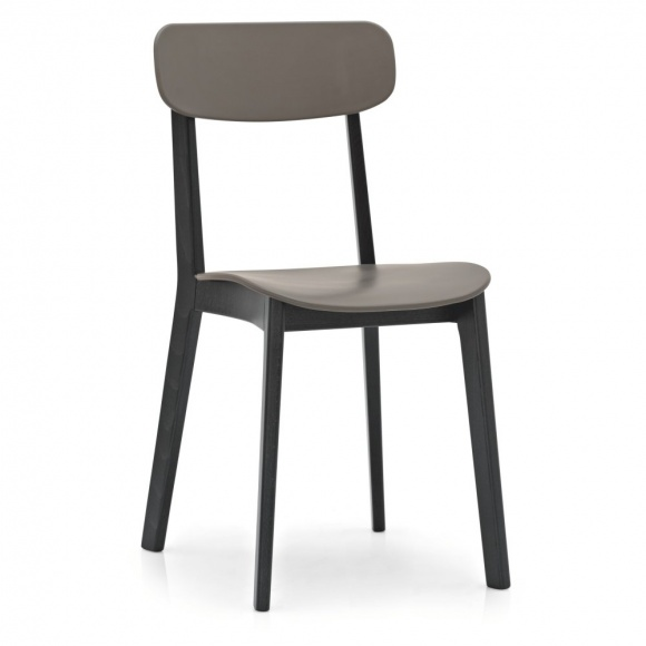 Cream: Dining Chair - Wood / Plastic