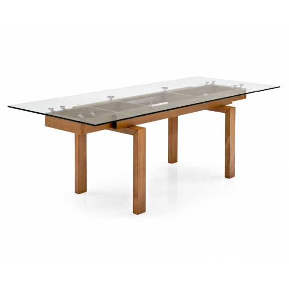 Hyper extendable dining table 8 seats calligaris for Table extensible calligaris