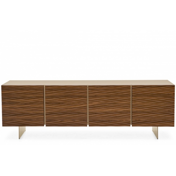 Opera (3): Embossed 3 Compartment Sideboard with 4 Doors