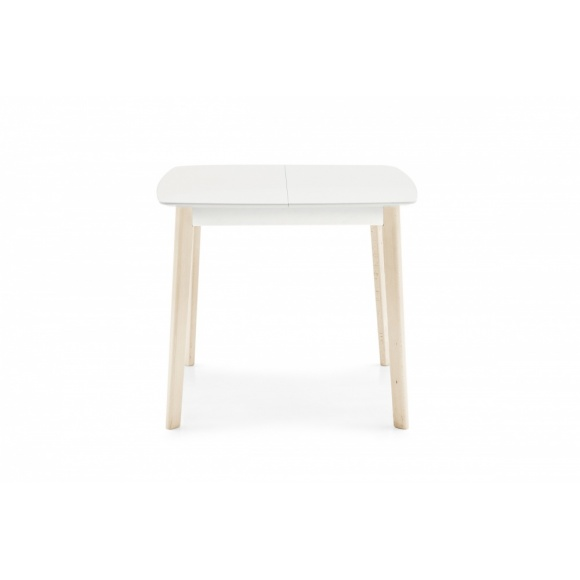 Cream (90): Square Extendable Wooden Dining Table